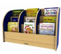 Early Childhood Resource ELR-0721-BL Toddler Single-Sided Book Stand - Blue