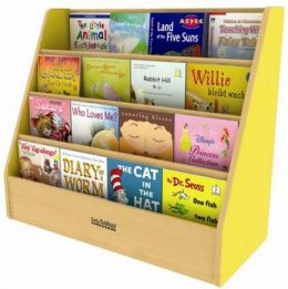 Early Childhood Resource ELR-0719-YE Colorful Essentials Book Display Stand - Yellow