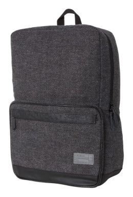 Hex Sonic Black and Grey Herringbone Backpack