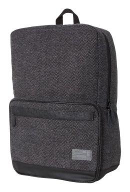 Sonic Black and Grey Herringbone Fabric Backpack