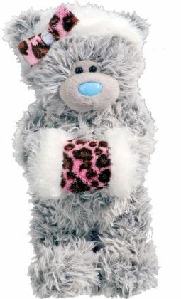 Tatty Teddy with Pink Leopard Muff