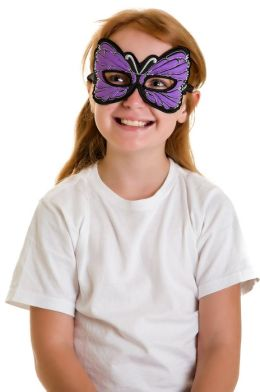Monarch Butterfly Mask: Lavender