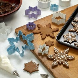 Snowflakes Cookie Cutters - Set of 7 Boxed with Raffia Tie