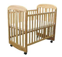 L.A. Baby Rocking Compact Crib -  Natural