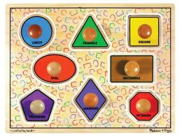Melissa & Doug Jumbo Knob Puzzle - Large Shapes