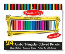 Jumbo Triangular Colored Pencils (Set of 24)