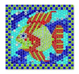 Peel and Press Mosaics - Tropical Fish