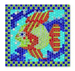 Peel and Press Mosaics - Tropical Fish