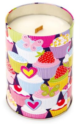 Sweet Tooth Cupcake Candle Tin with Wooden Wick