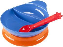 Divided Bowl Baby Feeding Set, Blue