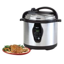 Nesco American Harvest PC6-25 6 Qt. Digital Electric Pressure Cooker-S-S Base and Lid