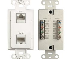 CHANNEL PLUS WP W DD Dual Data Quick-Connection Decora Wall Plates white