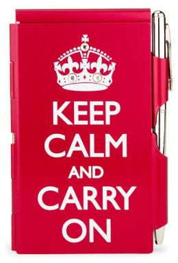 Keep Calm & Carry On Bling Memo Mate