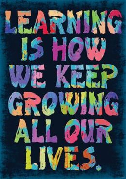 Trend Enterprises Inc. T-A67377 Learning Is How We Keep Growing Poster