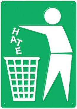 Trend Enterprises Inc. T-A67380 Trash The Hate Poster