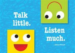 Trend Enterprises Inc. T-A67384 Talk Little Listen Much Poster