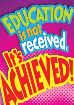 Trend Enterprises Inc. T-A67391 Education Is Not Received Poster