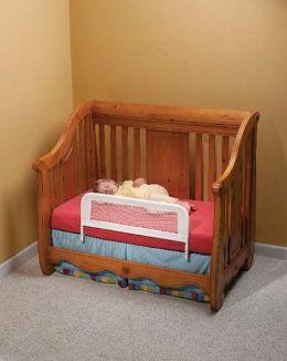 Kidco Universal Mesh Convertible Crib Bed Rail -  White