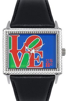 Arjang & Co PS-5004S-BK A Special Stamp for Someone Special East West Black Strap