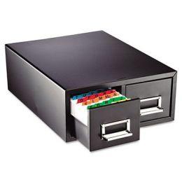 Mmf 263F6916DBLA Drawer Card Cabinet Holds 1,500 5 x 8 cards, 10 1/2 x 16 x 8 1/8