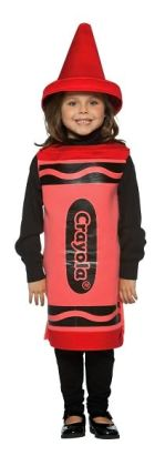 Red Crayola Crayon Child Costume: Size 4-6X