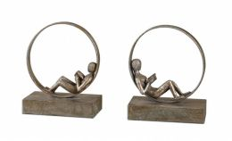 Uttermost 19596 Lounging Reader, Bookends, S-2