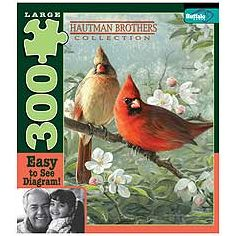 Orchard Cardinals Large Piece Puzzle: 300 Pcs