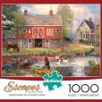 Product Image. Title: 1000pc Escapes: Reflections on Country Living