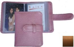 Raika SF 108 TAN 4 x 4 Wallet Photo Card Case - Tan