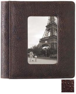 Raika AN 169 BROWN 4in. x 6in. Single Pages Front Framed Photo Album - Brown