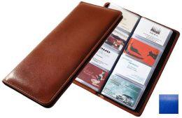Raika RO 126 BLUE 96 Desk Card Holder Case - Blue