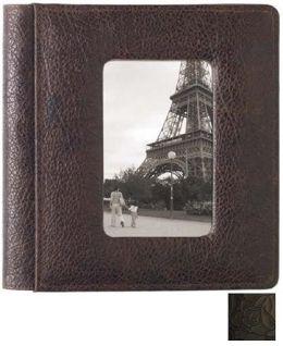 Raika IT 168 BLK 4in. x 6in. Foldout Front Frame Photo Album - Black