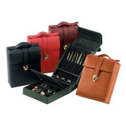 Royce Leather 924-BLACK-5 Ladies Pocketbook Jewelry Case - Black