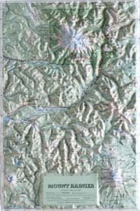 Hubbard Scientific Raised Relief Map 408 Mt. Rainier National Park