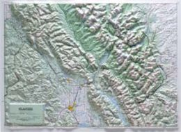 Hubbard Scientific Raised Relief Map 416 Glacier National Park