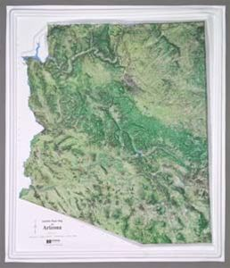 Hubbard Scientific Raised Relief Map K-AZ2428 Arizona NCR Series Satellite image