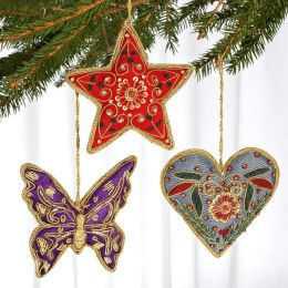 Unicef Beaded Ornament Butterfly Set
