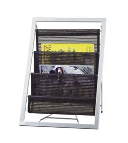 Adesso WK7802 Magazine Rack Black/Steel 01