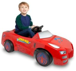 Spiderman 6V Battery-Operated Ride-on Car