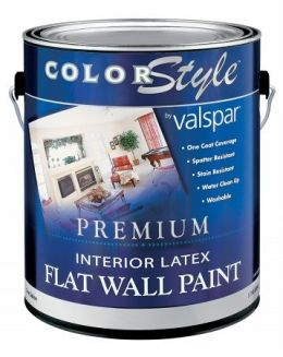 valspar brand 1 gallon white colorstyle interior latex flat wall paint. Black Bedroom Furniture Sets. Home Design Ideas