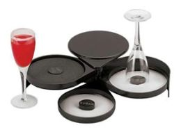 Paderno World Cuisine Glass Rimmer with 3 Salt Trays
