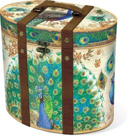 Royal Peacock Small Tall Oval Box