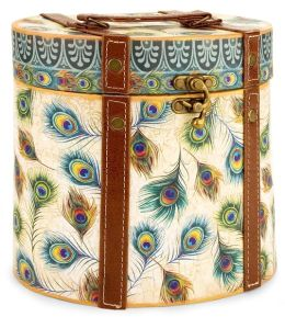 Large Peacock Oval Box
