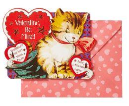 Embellished Kiddie Kitten Valentine Boxed Cards - Set of 8