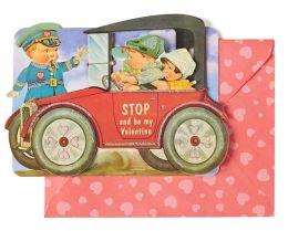Embellished Kiddie Car Valentine Boxed Cards - Set of 8