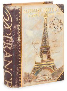 Small Navy Eiffel Book Box 8.5 x 6.5