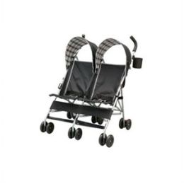 City Street Side by Side Stroller in Black