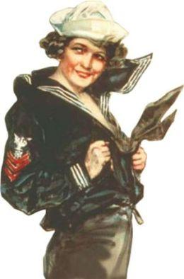 Daron CG59125 Corgi Gee I Wish I Were A Man Naval Reserve Figure