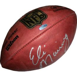New York Giants, Autographed Eli Manning NFL Duke Football