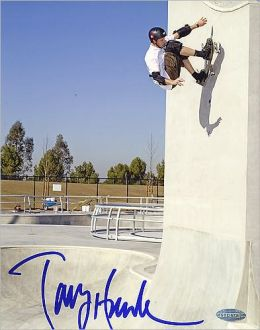 Autographed Tony Hawk Up The Wall 8x10 Photograph